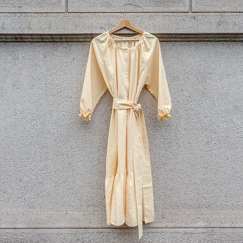 ESTELLE WOMAN DRESS -Seersucker yellow