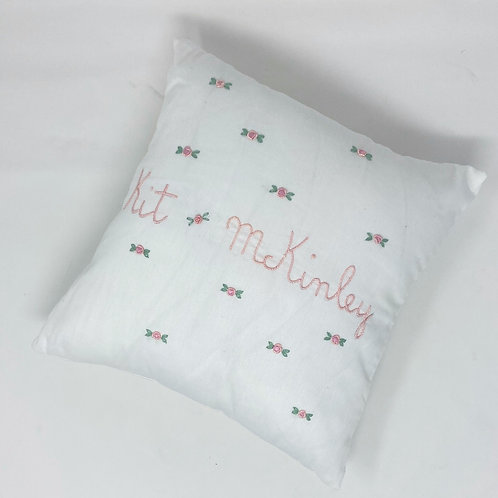 CUSTOM HAND EMBROIDERED PILLOW