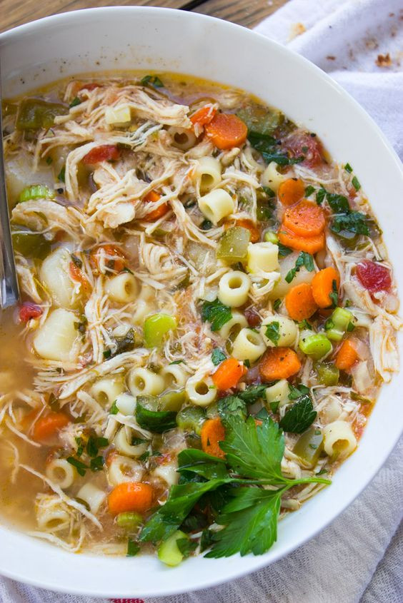 Healthy Chicken Veggie & Noodle Soup