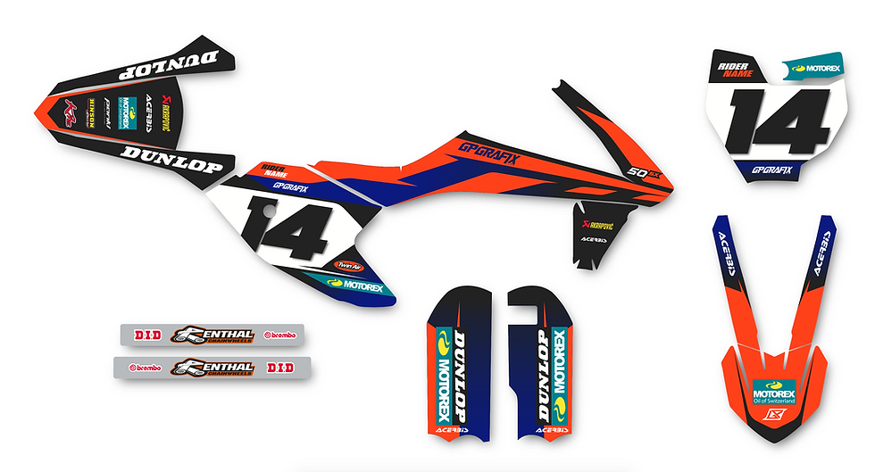 KTM 50SX FACTORY KIT (BLUE)
