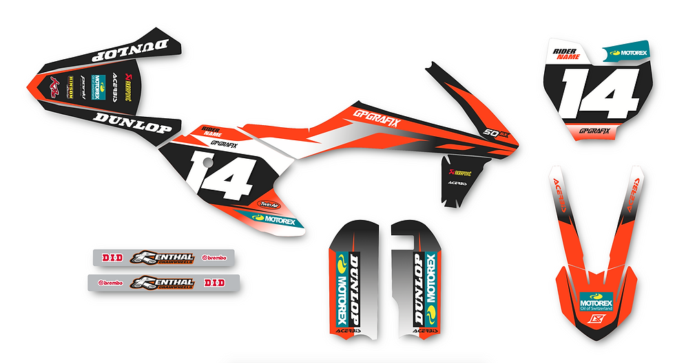 KTM 50SX FACTORY KIT (ORANGE)