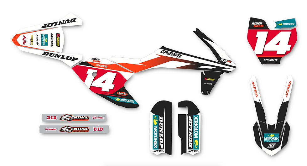 KTM 50SX FACTORY KIT (WHITE)