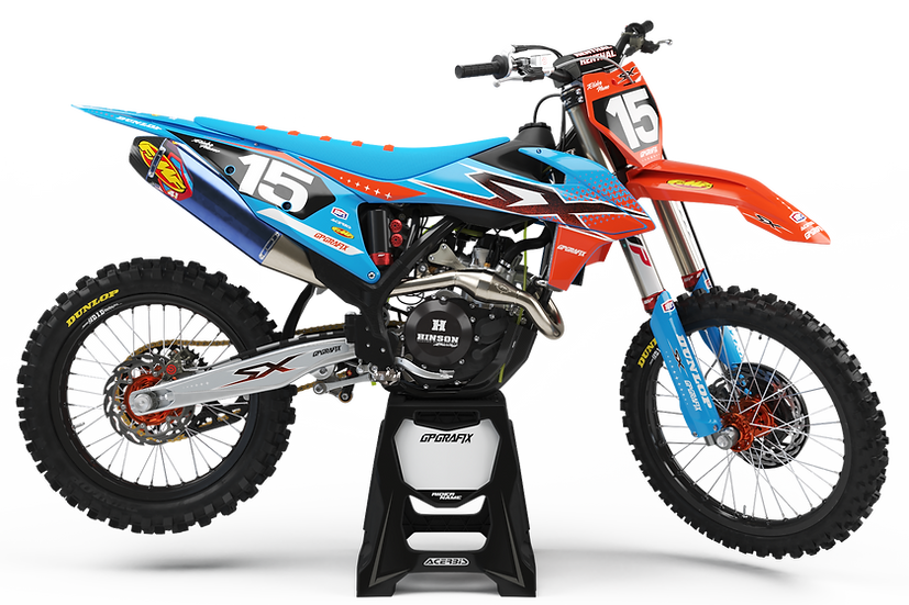 KTM 'STEEZ' KIT (CYAN)