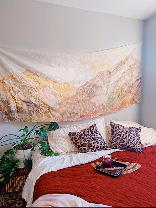 Tuscan Mountain Silk Tapestry