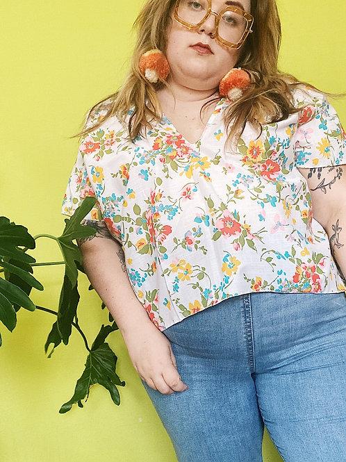 Floral Katie Crop