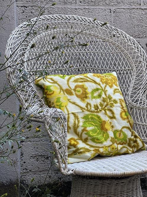 Floral & Olive Velvet Pillow