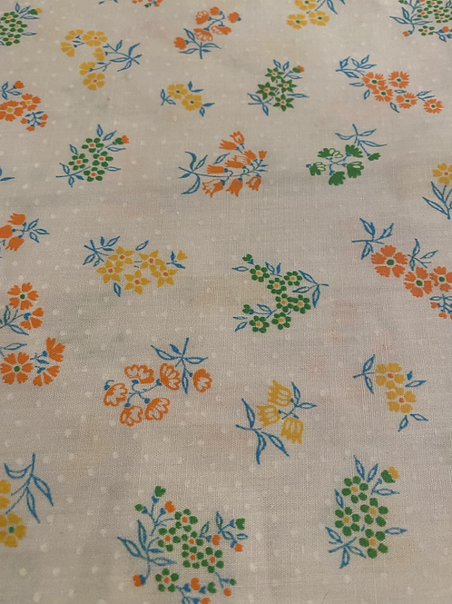 1950s Floral Custom Peggie Kaftan