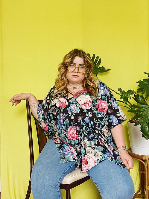 80s Floral Julia Top