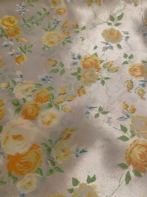 Floral Sateen Custom Crystal Duster