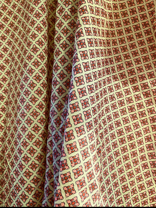 Geometric Cotton Custom Katie Crop
