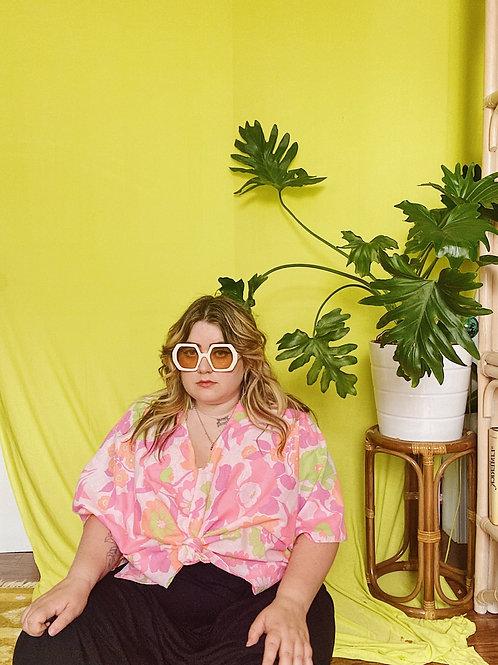 Psychedelic Floral Katie Crop