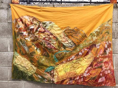 Sunset Landscape Tapestry