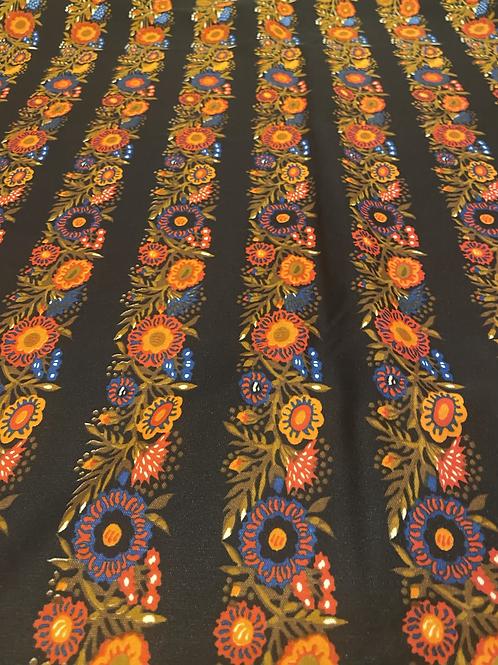 Floral Stripe Custom Katie Crop