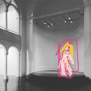 GIRLINTHECAGE digital drawing, print on acrylic glass, 2020