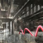 Sacral Space #1  Acrylic on canvas 170_210 cm, 2019