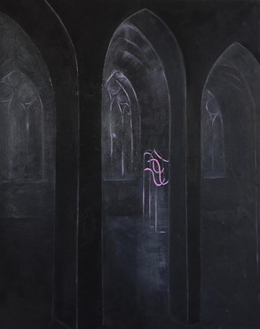 ALTAR 120/80 cm, oil and crayons on canvas // 2019