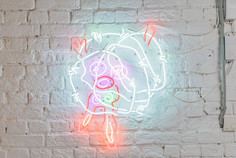 The Relentlessness Of Being, 70/100 cm, neon glass tubes, 2021