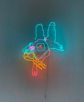 DOWN THE RABBIT HOLE // neon tubes // 110 cm x 83 cm // 2020