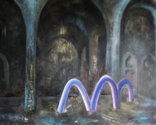 Sacral Space #3, 170 x 210 cm, acryl on canvas, 2019