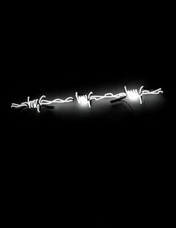 BARBED WIRE, 70x15 cm, white neon tubes, 2021