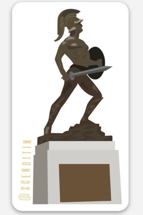Tommy Trojan Rounded Corner Sticker