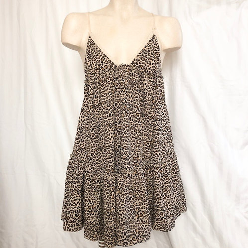 Cheetah Print Ruffled Flowy Dress
