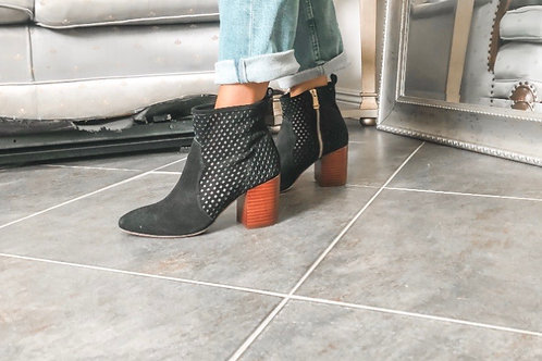 Report Signature Black Suede Booties