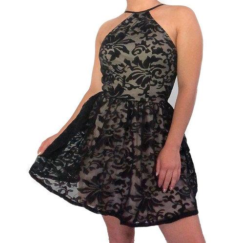 Tobi Black Lace Mini Dress