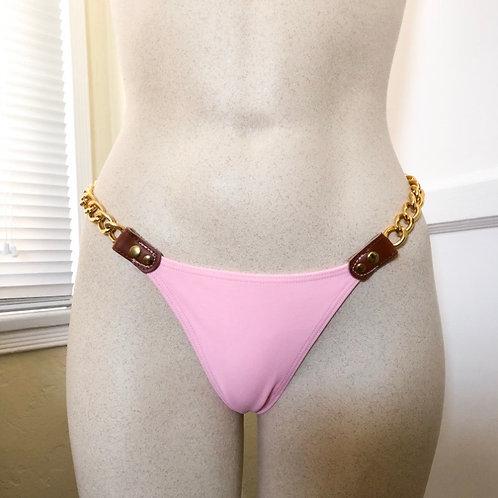 New Pink Chain Detail Bikini Bottoms