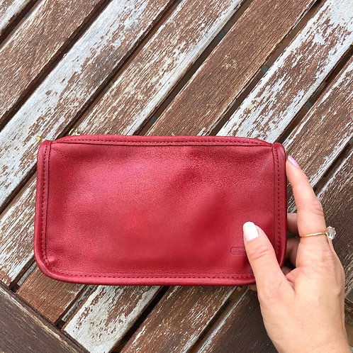 Vintage Coach Leather Makeup Bag/Clutch