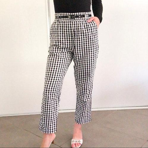 Zara Checkered High Waist Pant