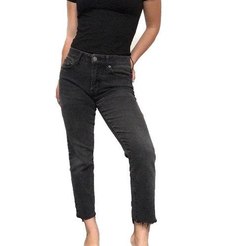 American Eagle Raw Hem Charcoal Jeans