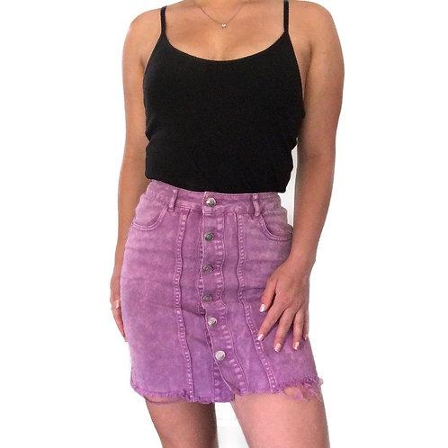 Material Girl Purple Denim Skirt
