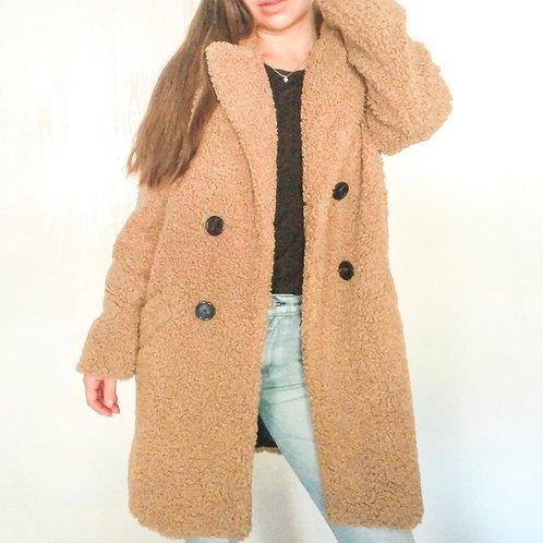 Zara Oversized Brown Teddy Coat