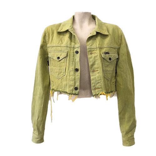 Wrangler Green Cropped Denim Jacket