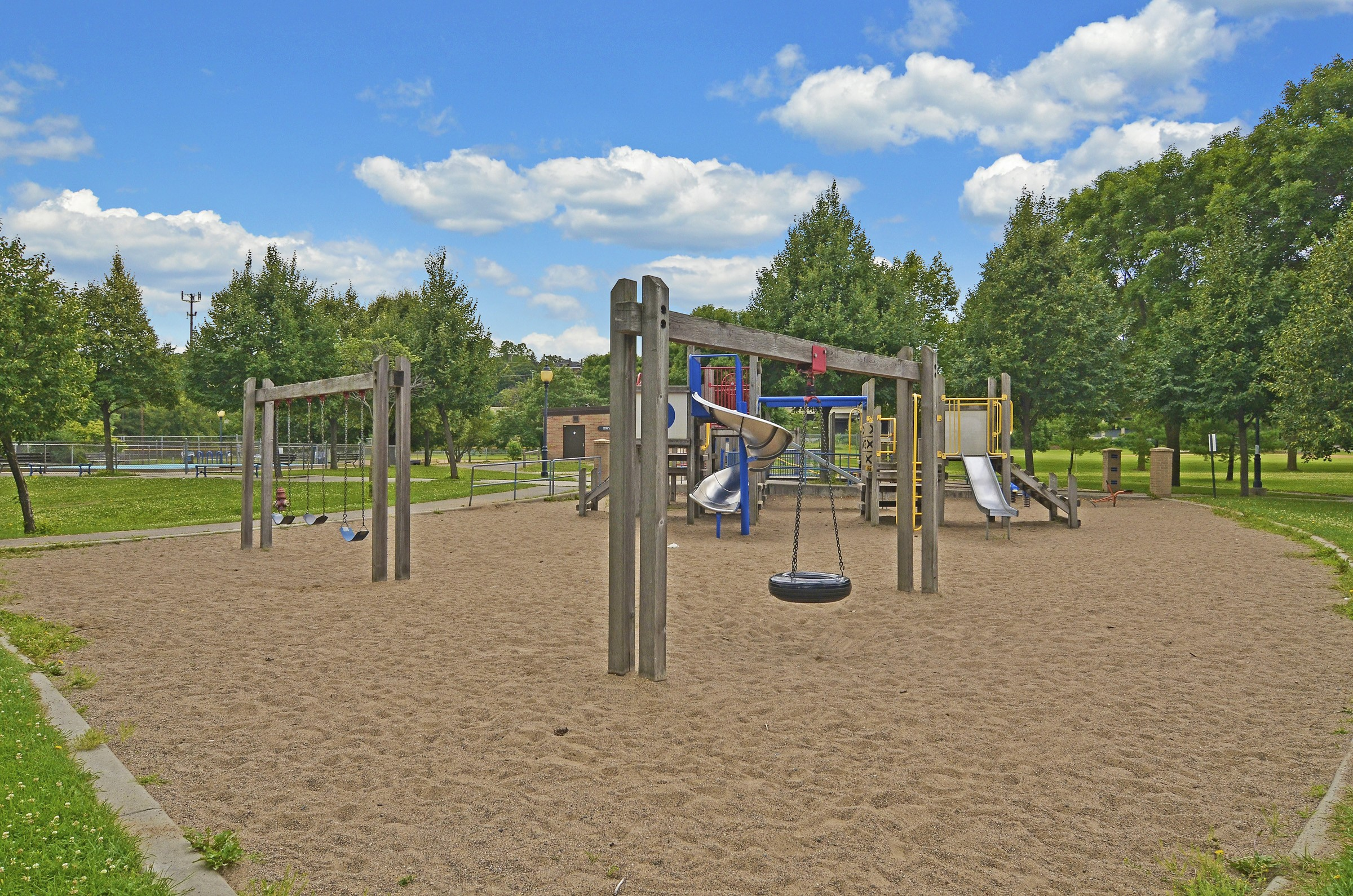 Playground in Bryn Mawr neighborhood in Minneapolis