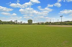 Ball fields in Minneapolis' Bryn Mawr neighborhood