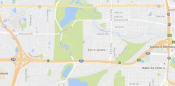 Map of Bryn Mawr neighborhood in Minneapolis