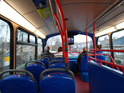 Edinburgh bus, double decker