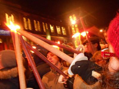 Hogmanay, torches, fire, torchlight procession, Edinburgh