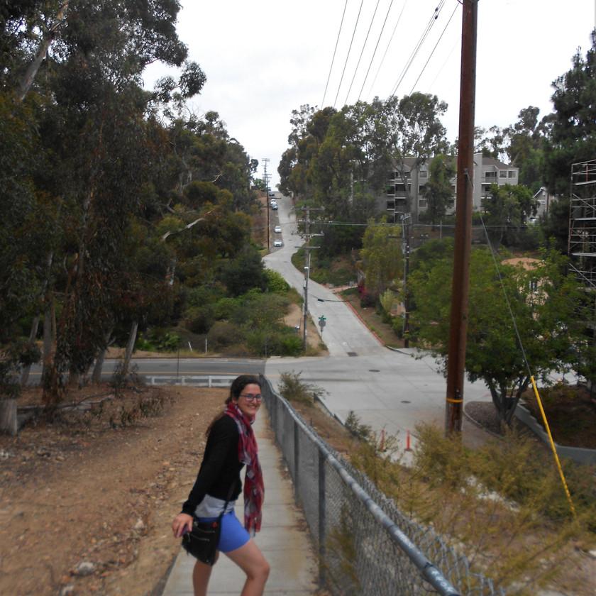 San Diego, uphill, hills