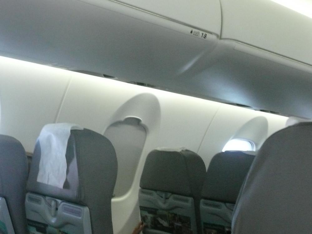 Dentro de avión de AirEuropa