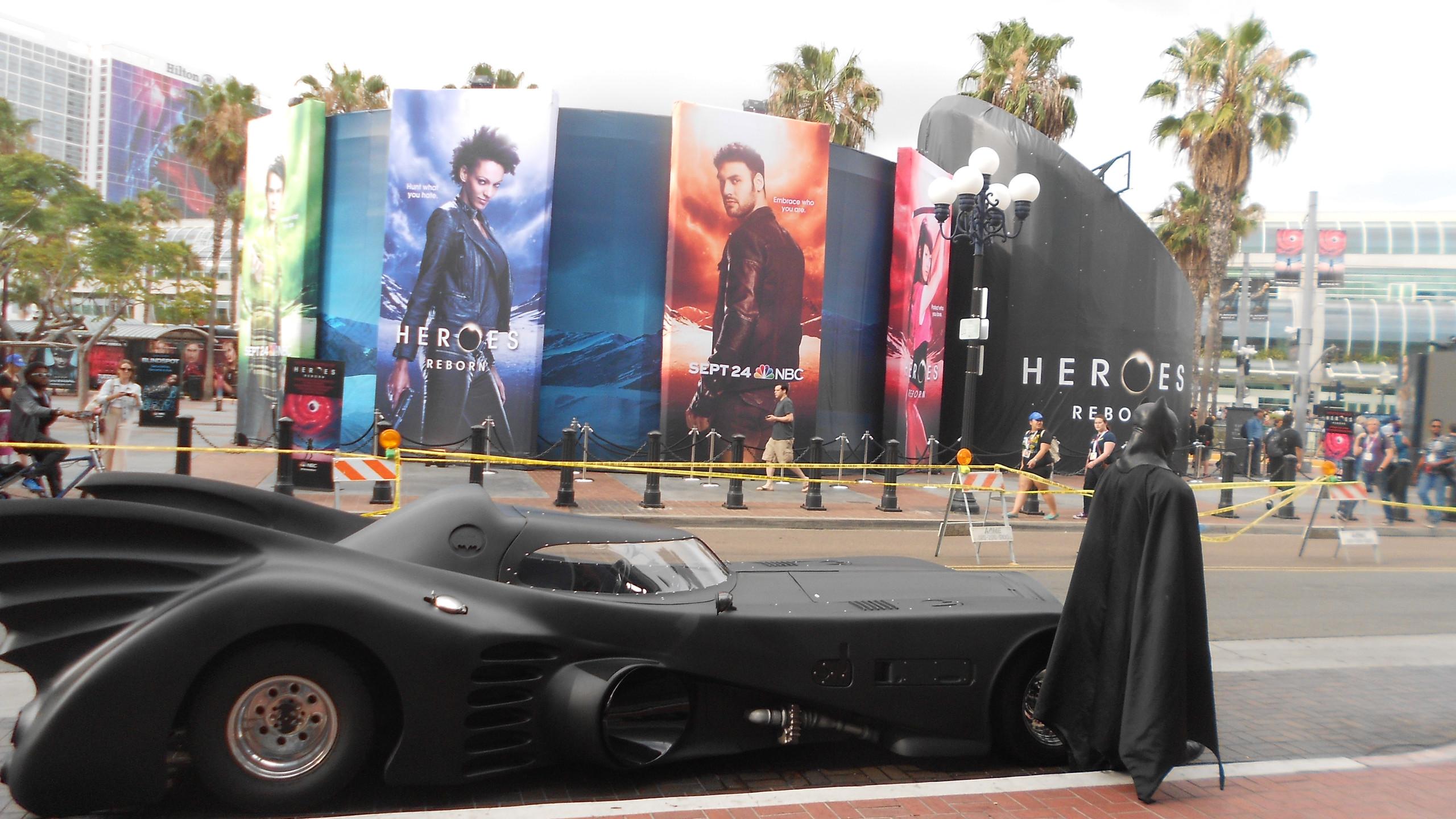 SDCC, comic-con, convention, San Diego, Batman, Batmobile