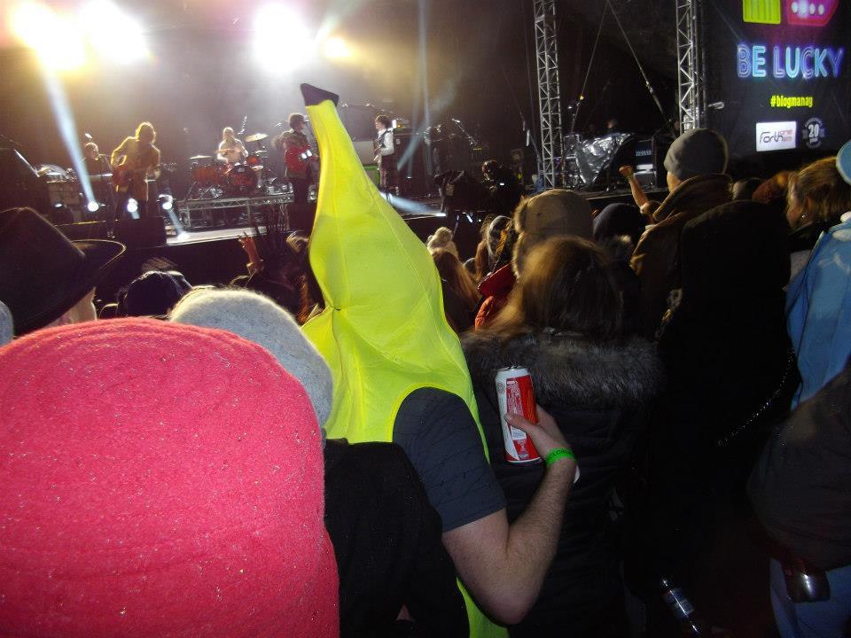 New Year, Hogmanay, Concert in the Gardens, banana
