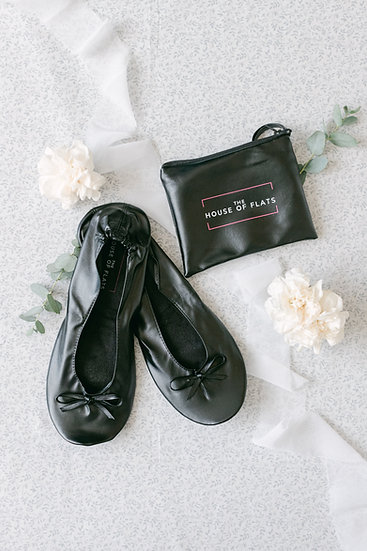 Black Mascara Ballet Flat