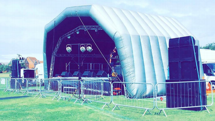 Large PVC Stage for hire - JAM Stage Hire
