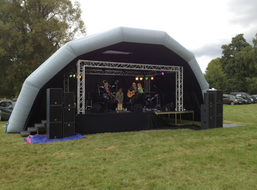 Grey Cotton stage for hire - JAM Stage Hire