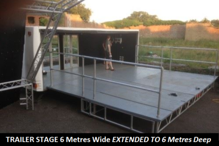 Trailer Stage for hire - JAM Stage Hire