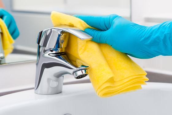 Fregadero de limpieza