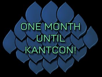 One Month Until KantCon!